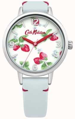 Cath Kidston Ladies Light Blue Strawberries Watch CKL006WUS