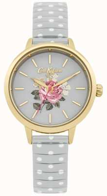 Cath Kidston Ladies Grey Polka Dot Richmond Watch CKL009EG