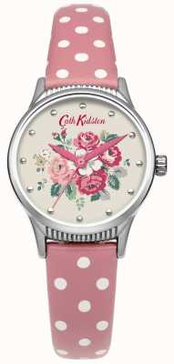Cath Kidston Ladies Forest Bunch Pink Spot Leather Watch CKL012PS