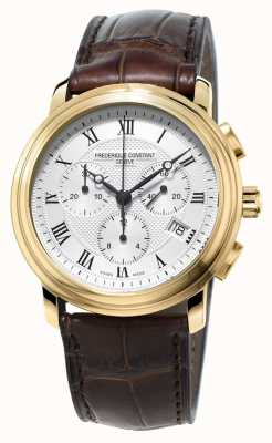 Frederique Constant Mens Classic Chronograph Brown Leather Strap FC-292MC4P5