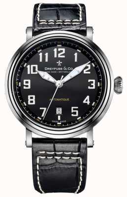 Dreyfuss Mens Automatique Black Leather Strap DGS00153/19