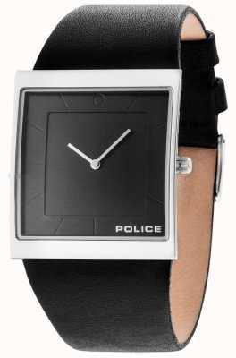 Police Mens Skyline Black Leather Strap Gun Dial 14694MS/61