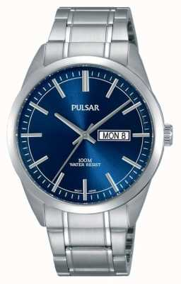 Pulsar Gents Stainless Steel Blue Face Watch PJ6073X1