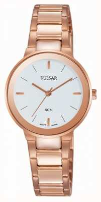Pulsar Ladies Rose Gold Plated Watch PH8290X1