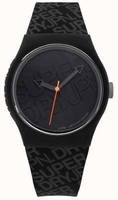 Superdry Unisex Urban Black Silicone | SYG169B