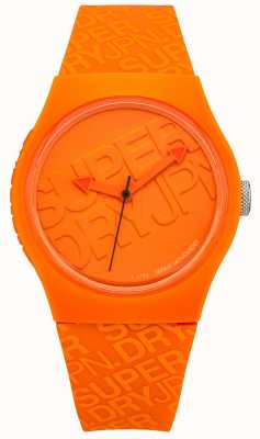 Superdry Unisex Urban Orange Silicone SYG169O