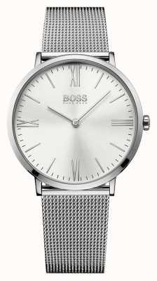 Hugo Boss Mens Jackson Stainless Steel Mesh Strap Silver Dial 1513459