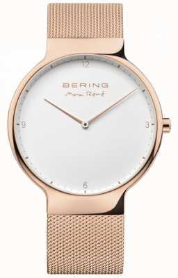 Bering Mens Max René Interchangeable Mesh Strap Rose Gold 15540-364