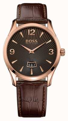 Hugo Boss Gents Commander Brown Leather Watch 1513426