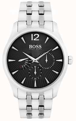 Hugo Boss Mens Commander Stainless Steel Black Dial 1513493