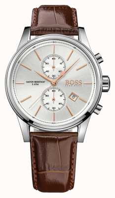 Hugo Boss Gents Jet Brown Leather Chrono Ex Display 1513280EX-DISPLAY