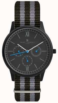 Smart Turnout Time Watch - Black With Nato Strap STK2/BK/56/W