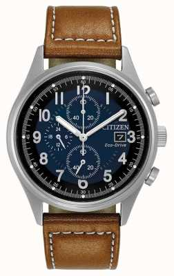 Citizen Mens Eco-Drive Blue Chronograph Chandler CA0621-05L
