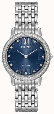 Citizen Womans Eco-Drive Silhouette Crystal Blue EX1480-58L