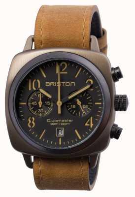 Briston Mens Clubmaster Classic Steel Chrono Khaki 15140.SPK.C.5.LVBR