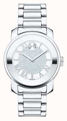 Movado bold Midsize Luxe Silver Stainless Steel K1 Crystal 3600254
