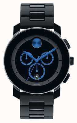 Movado bold Large Chronograph  Black TR90 Composite 3600101