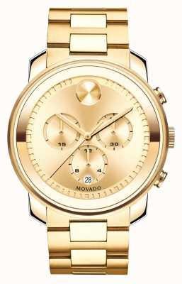 Movado Large BOLD Chronograph Yellow Gold Ion-plated K1 Crystal 3600278