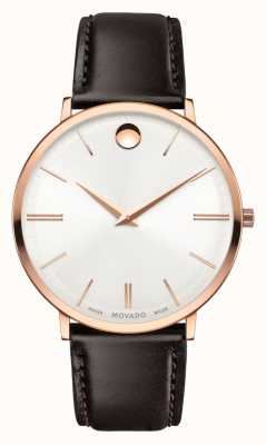 Movado Men's Ultra Slim Rose Gold PVD-finished 0607089