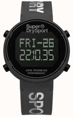 Superdry Unisex Digi Pedometer Grey Silicone Strap SYG203E