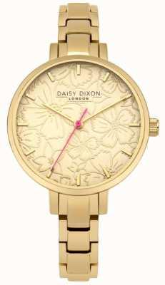 Daisy Dixon Womans Leona Floral Print Dial Gold DD043GM