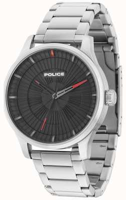 Police Mens Jet 3 Hands Black Dial Stainless Steel 15038JS/02M