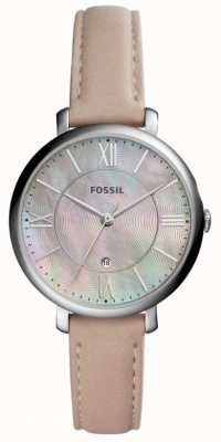Fossil Womans Jacqueline MOP Dial Pink Leather Strap ES4151