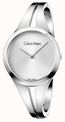 Calvin Klein Womans Addict Stainless Steel Silver Bangle K7W2S116