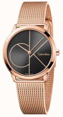 Calvin Klein Womans Minimal Rose Gold Mesh K3M22621