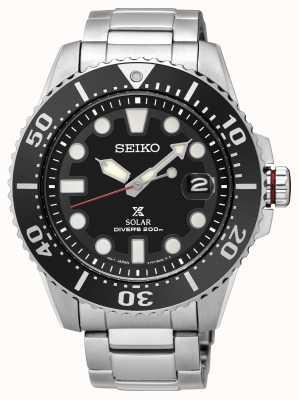 Seiko | Prospex | Solar | Diver's | Metal Bracelet | Black Dial | SNE551P1 SNE437P1