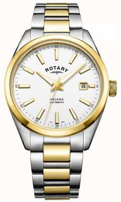 Rotary Mens Havana Automatic | Two-Tone Stainless Steel Strap | GB05078/02