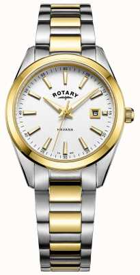 Rotary Womans Havana | Two-Tone Stainless Steel Bracelet | LB05080/02