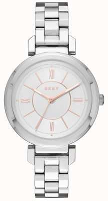 DKNY Womans Ellington Steel Silver Watch NY2582
