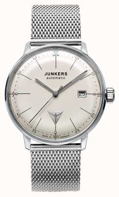 Junkers Mens Bauhaus Automatic Stainless Steel Mesh Beige Dial 6050M-5