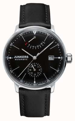 Junkers Ex Display model Mens Bauhaus Automatic Black Leather Strap 6060-2-EX-DISPLAY