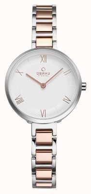Obaku Womans VAND PEACH Wristwatch V195LXCISV