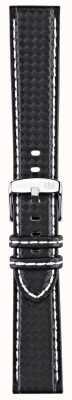 Morellato Strap Only - Biking Techno Black/white 18mm A01U3586977817CR18