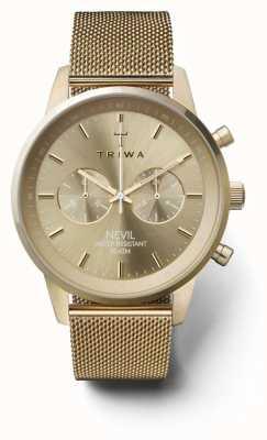 Triwa Womans Nevil Chronograph Gold Tone Mesh NEST104:2-ME021313