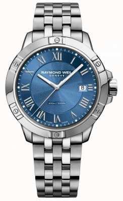 Raymond Weil Mens Tango Steel Blue Dial Silver/Blue 8160-ST-00508