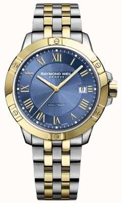 Raymond Weil Mens Tango Watch | Stainless Steel Strap | Deep Blue Dial | 8160-STP-00508