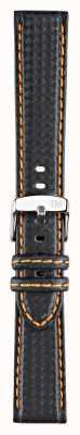 Morellato Strap Only - Biking Techno Black/orange 18mm A01U3586977886CR18