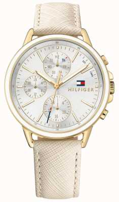 Tommy Hilfiger Carly | Nude Leather Strap | White Dial 1781790