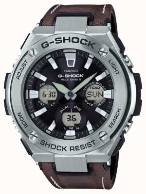 Casio G-SHOCK Aviator Tough Solar Brown Leather Strap GST-W130L-1AER