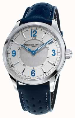 Frederique Constant Mens Horological Smartwatch Bluetooth Blue Leather Strap FC-282X5B6
