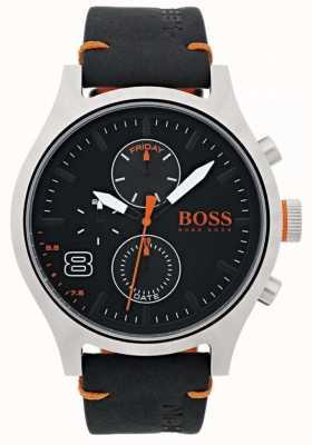 Hugo Boss Orange Mens Amsterdam Black Leather 1550020