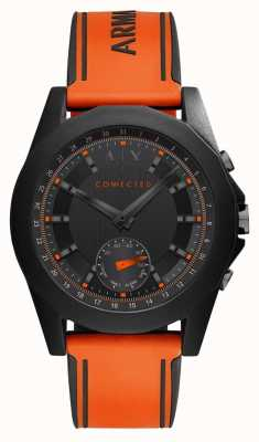Armani Exchange CONNECTED Smart Watch Orange Silicone Strap AXT1003