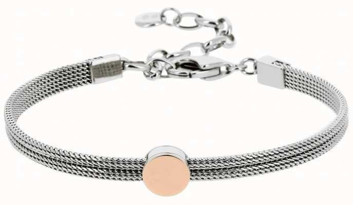 Skagen Womens Stainless Steel Rose Gold Plated Bracelet SKJ0956998