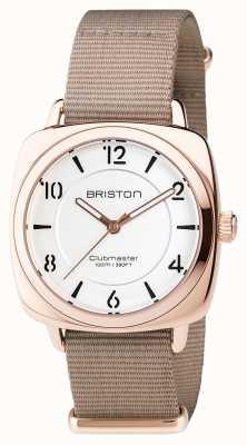 Briston Clubmaster Chic Steel - HMS Gold white dial 17536.SPRG.L.2.NT