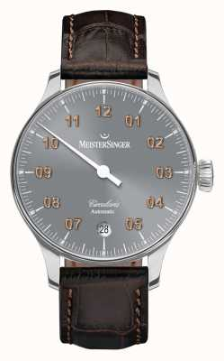 MeisterSinger Mens Circularis Automatic Sunburst Medium Grey CC927G