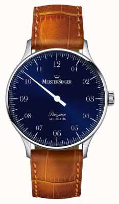 MeisterSinger Mens Classic Pangaea Automatic Sunburst Blue PM908